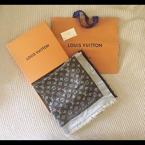 Louis Vuitton Monogram Denim Shawl in Black